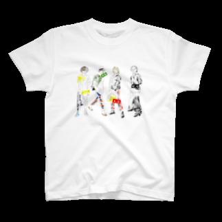 !かがさん!(秋田県のYouTuber)の4人の人 T-shirts