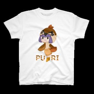 ウサネコのぷり☆スズメちゃん T-shirts