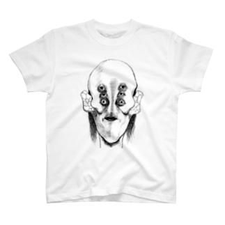 躁鬱漫画Tシャツ 自画像 T-shirts