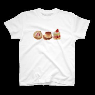 マチルの羊毛フェルトのフワフワスイーツ T-shirts