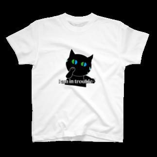 POPUP_KOBE_MARIKOの困った〜焦るねこ T-shirts