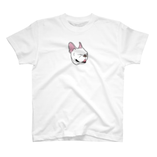 白いフレンチブルドッグ T-shirts