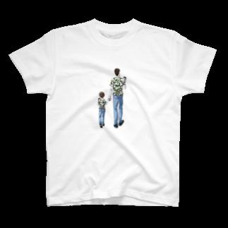SoNo-designsの似たもの親子 T-shirts