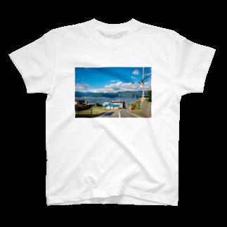 ゆるい青の青_1 T-shirts