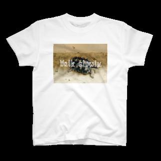 zikomanking SHOPのWalk slowly T-shirts