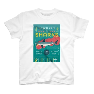 WATCH OUT FOR SHARKS T-shirts