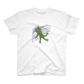 アマビエ壁画風 T-shirts