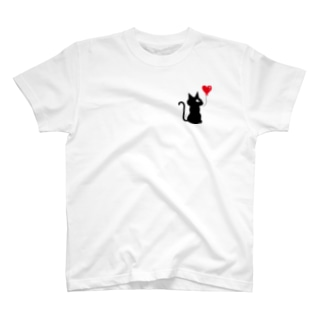 ニャンクシーTシャツFront1ポイント T-shirts