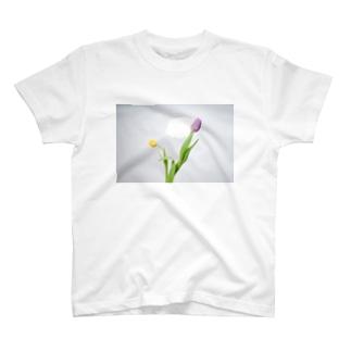 チューリップ フォトT T-shirts