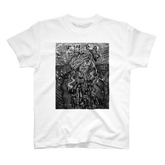 かっこつけUKガール白黒 T-shirts