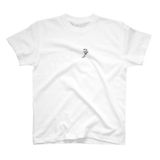 罫線で遊ぶカエル T-shirts