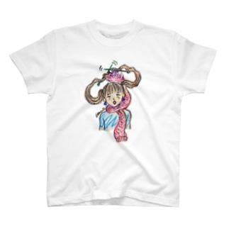 ツインテ編み編み T-shirts