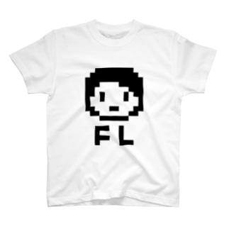 フルートの子(ショートカット) T-shirts