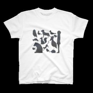 ふぇふぉのゆかいなどうぶつたち T-shirts
