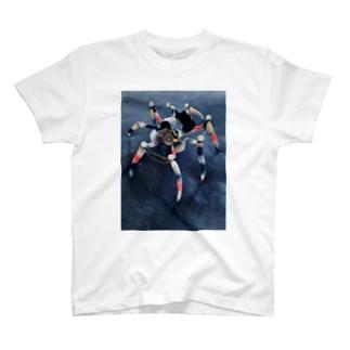 飯野 モモコの単眼蜘蛛/scrap T-shirts