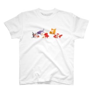 金魚たち/背景無し T-shirts
