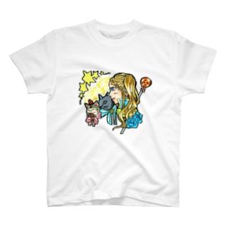 魔法少女miku✨使い魔ニャンズ召喚💙🍓 T-shirts