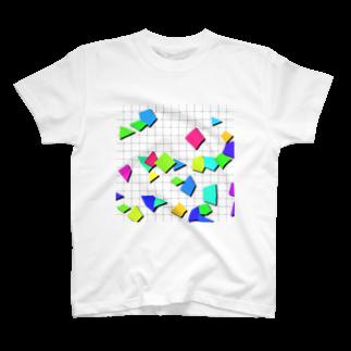 レオナのRetro Shapes T-shirts