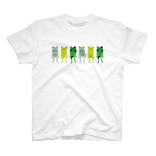 カエル3 T-shirts