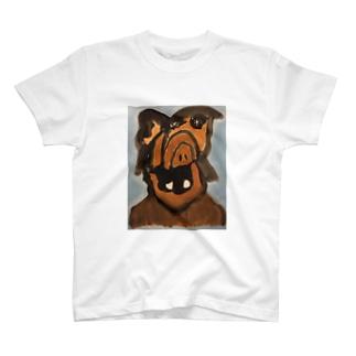宇宙人の肖像画『アルフ』 T-shirts