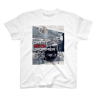 GRD Tシャツ イラスト白 T-shirts