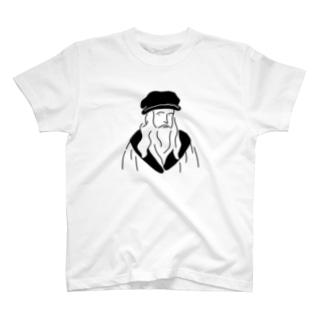 レオナルド・ダ・ヴィンチ イラスト T-shirts
