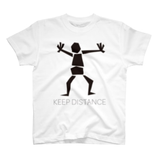 ゴトーマミのKEEP DISTANCE T-shirts