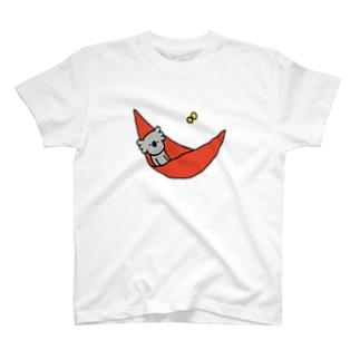 のんびりハンモック T-shirts