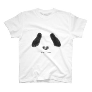パンダの顔 T-shirts