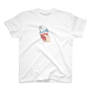 インコグッズ屋のインコアイス(ヴァイオレット) T-shirts