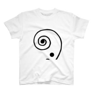 scroll BK/Strings T-shirts