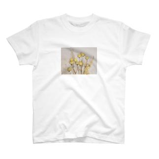 Flower photo print series T-shirts