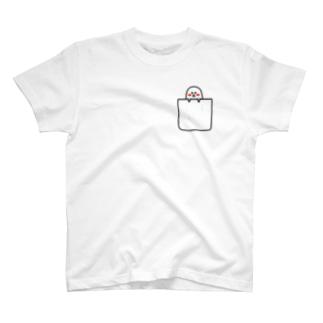 しろまる(ぽっけの中にいます) T-shirts