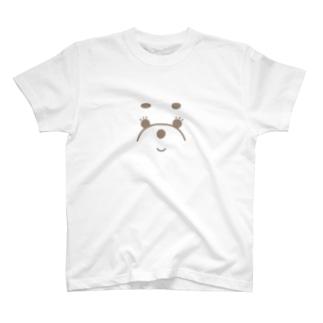 ほほえむ、わたあめわんこ T-shirts