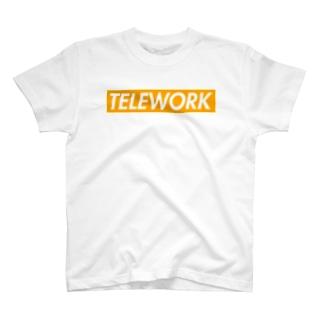 テレワーク(ボックスロゴ) T-shirts