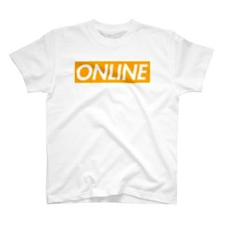 オンライン(ボックスロゴ) T-shirts