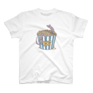 ポップコーンスネーク(ラベンダー) T-shirts
