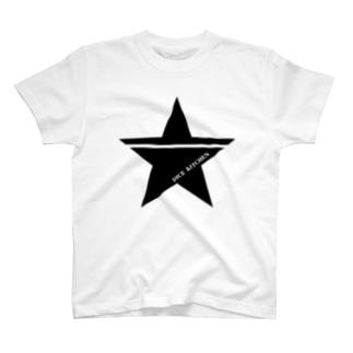 ダイスキッチン応援グッズ(ワンスター黒) T-shirts