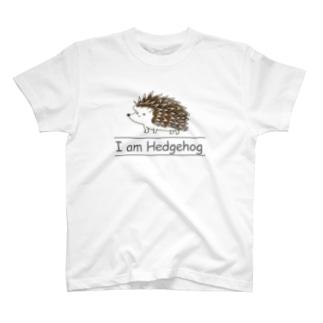 I am Hedgehog(黒) T-shirts