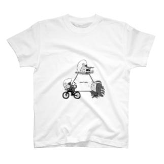 アマビエトライアスロン【白黒】 T-shirts