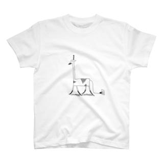 充電中キリン T-shirts