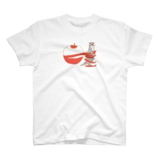 かわうそりんごぐるぐる T-Shirt