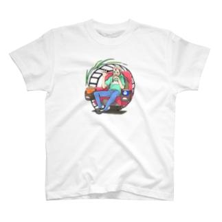 1,900円の支援/大童澄瞳 デザイン kiki支援Tシャツ T-shirts