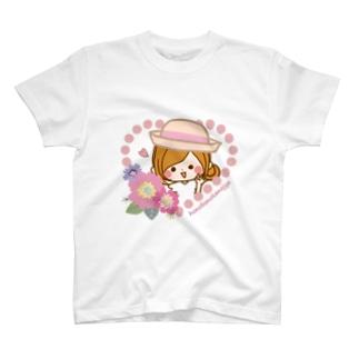 お花とハート T-shirts