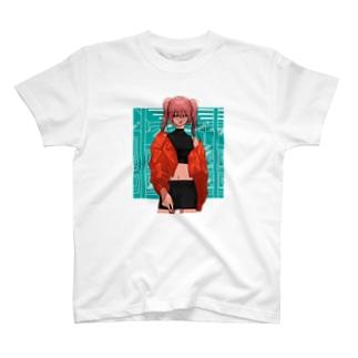 鼻血の女の子 T-shirts