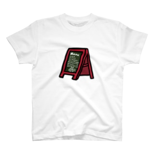 ことり喫茶珈琲牛乳 カフェボード T-shirts