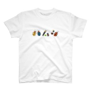 カラフルポップなハムシ T-shirts