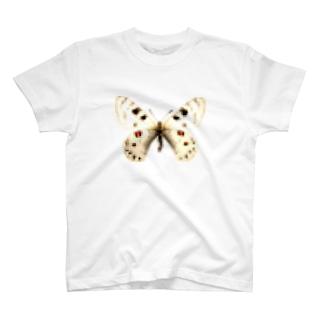 モザイクがかった白い蝶 T-shirts