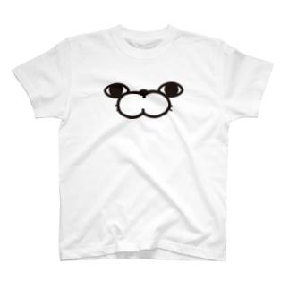 ぬこ100%ザフェイス T-shirts
