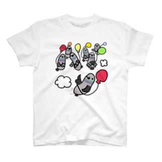 庭にくるコトリからのドバト御一行様 T-shirts